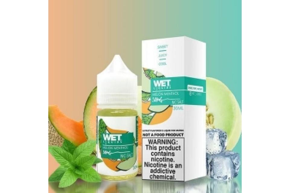 Wet Liquids SALT Melon Menthol