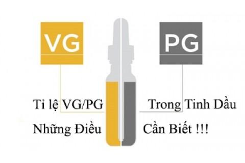 Tinh Dầu VG Là Gì ? Tỉ lệ VG - PG Trong Tinh Dầu Vape